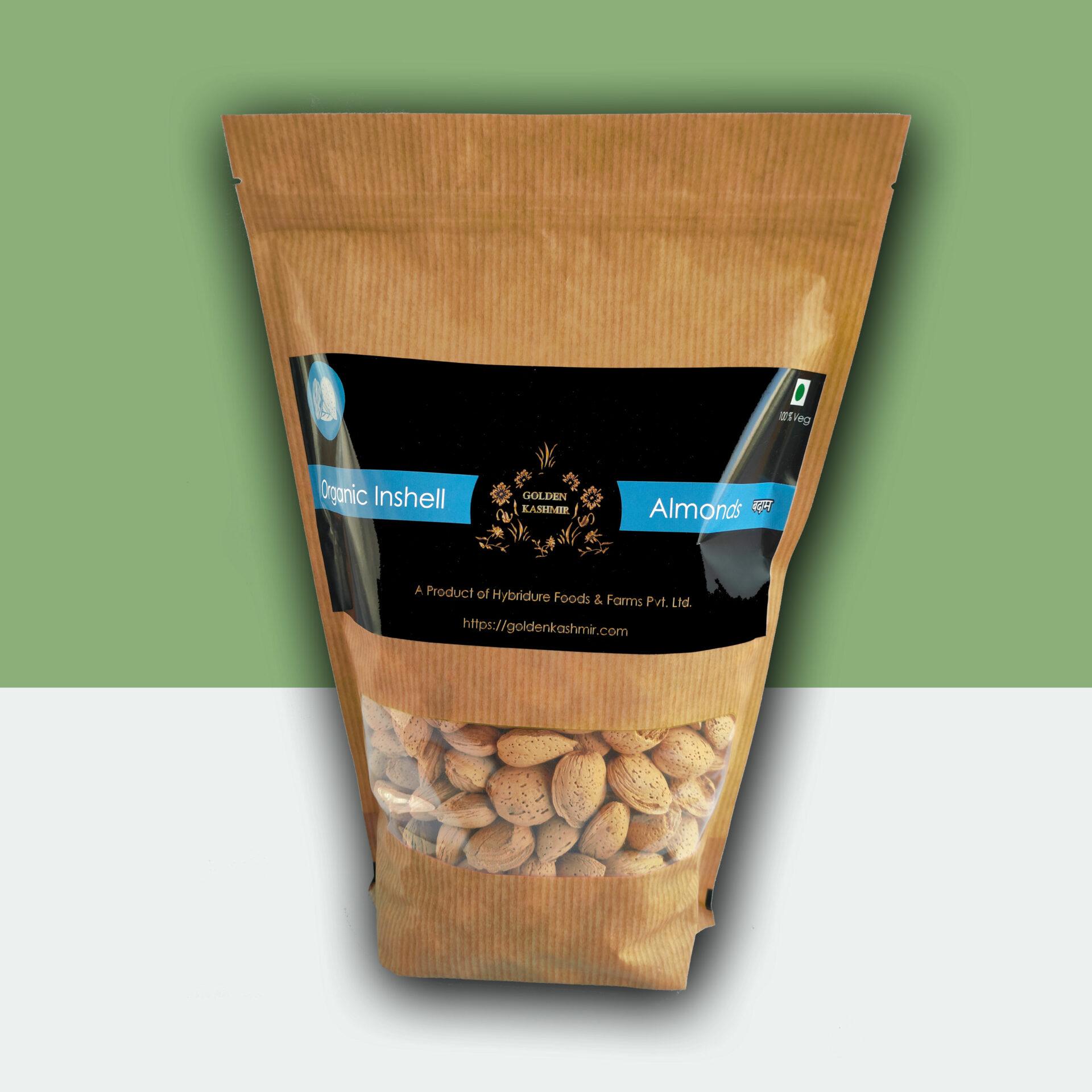 Golden Kashmir Premium Inshell Almonds   900G (2Lbs)