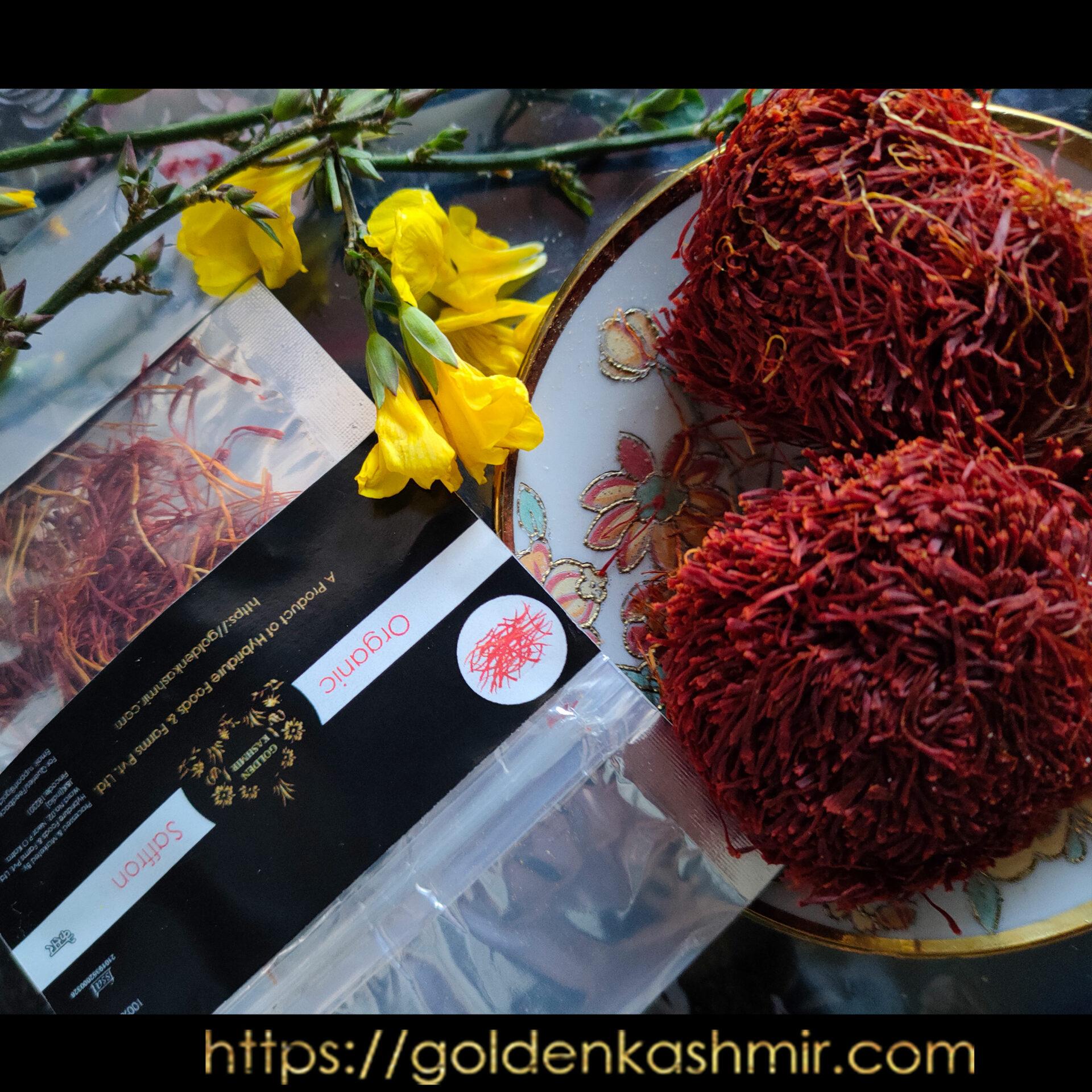 Golden Kashmir Premium Saffron (Kesar) | 1 Gram