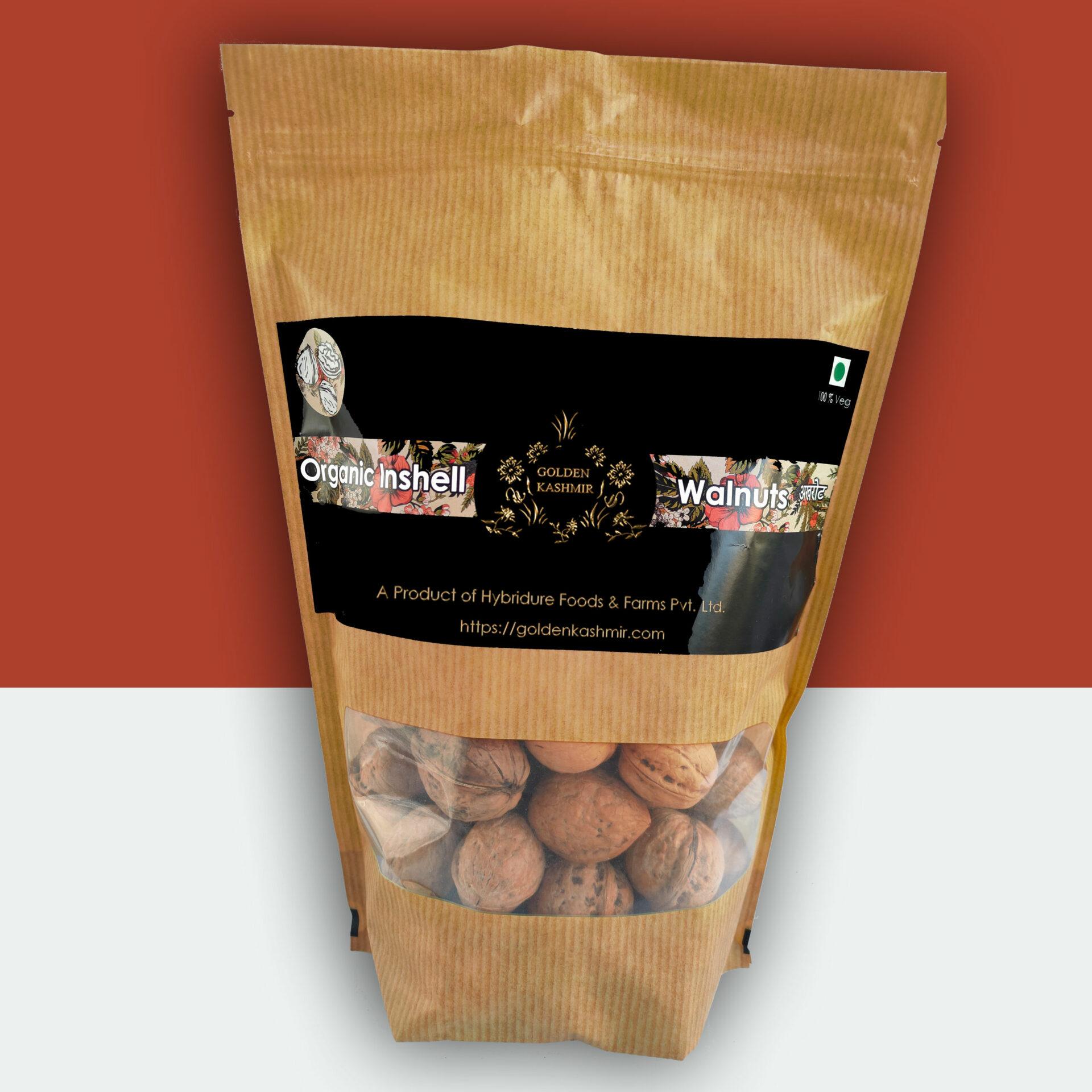 Golden Kashmir Premium Inshell Walnuts | 900G (1.1lbs)